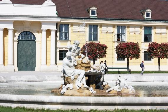 Fontanna w ogrodach Schönbrunn