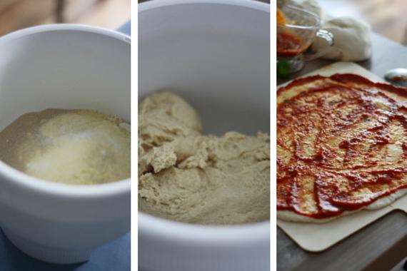 Proces przygotowania ciasta na pizzę w domu