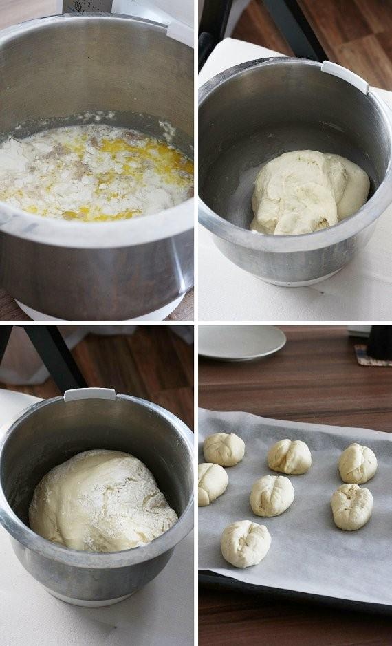 Proces przygotowania bułek śniadaniowych