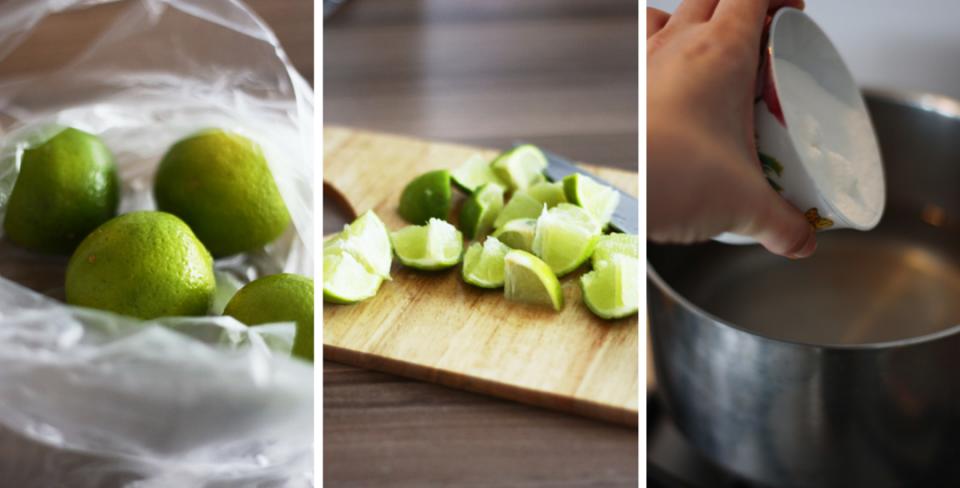 Przygotowanie lemoniady z limonek