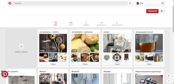 Pinterest w praktyce