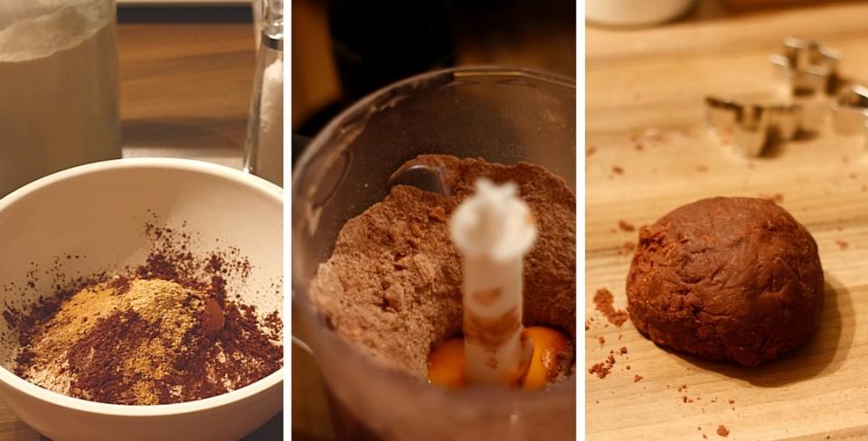 Proces tworzenia ciasta na kruche ciasteczka i formowanie z niego kuli